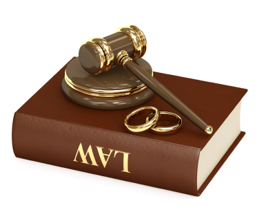 a court hammer, a ring and a book