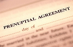 a prenuptial agreement paper
