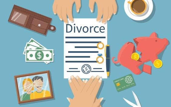 vector image of a divorce paper